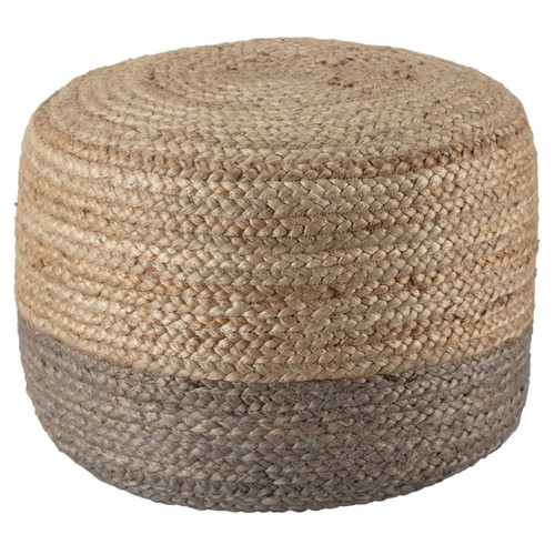 Oliana Ombre Taupe Cylinder Pouf