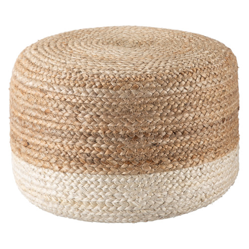 Oliana Ombre White Cylinder Pouf - Small