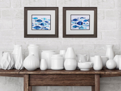 Fish on Parade Beach House Art - Set of Two room example