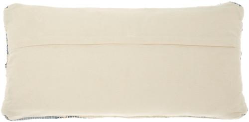Distressed Woven Denim Throw Pillow reverse