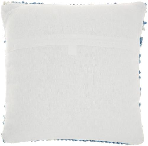 Ombre Woven Stripes Navy Throw Pillow reverse