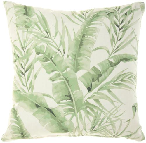 Banana Leaf Green Indoor-Outdoor Throw Pillow
