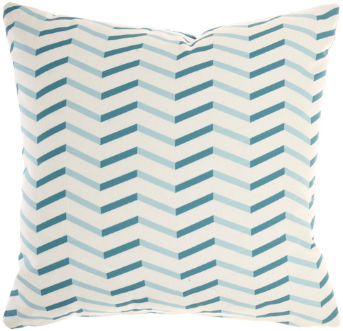 Banana Leaf Blue Indoor-Outdoor Throw Pillow