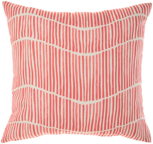 Starfish and Wave Coral Indoor-Outdoor Throw Pillow reverse