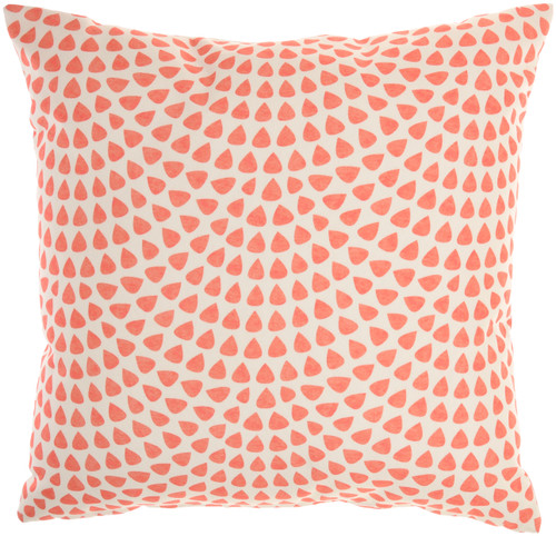 Coral and Dot Indoor-Outdoor Throw Pillow reverse