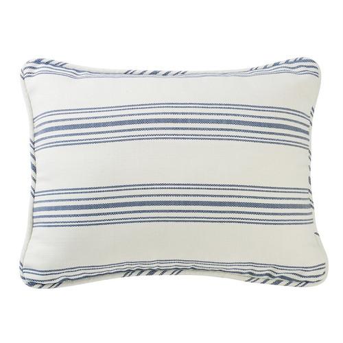 Prescott Navy Ticking Striped King Pillow Shams