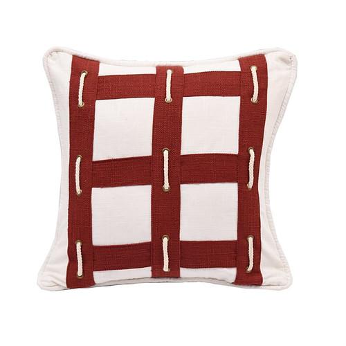 Red Seafarer Nautical Pillow