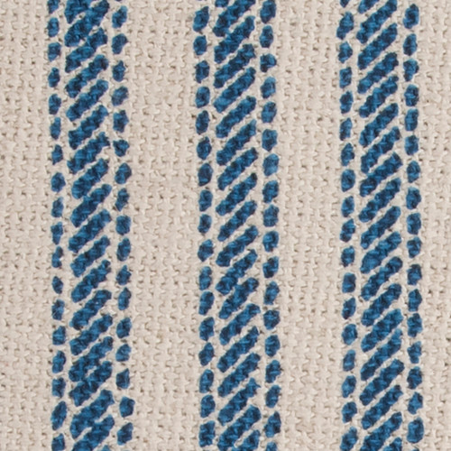 Beach Cottage Blue Ticking Stripe Pillow close up stripe
