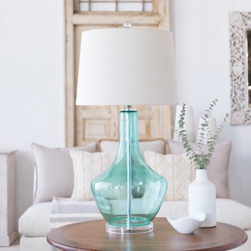 Easton Pale Blue Glass Table Lamp