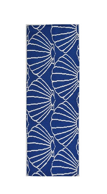 Blue Shell Repeat Accent Rug runner size