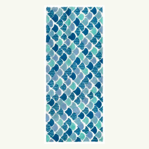 Mermaid Tiles Accent Rug runner size