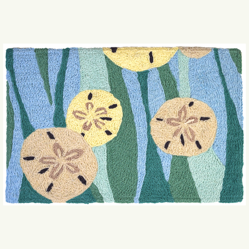 Sand Dollars and Waves Accent Rug