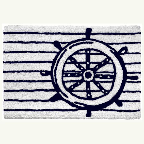 Ship's Wheel Nautical Accent Rug