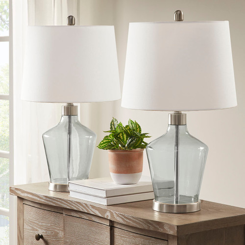 Storm Glass Table Lamps - Set of Two