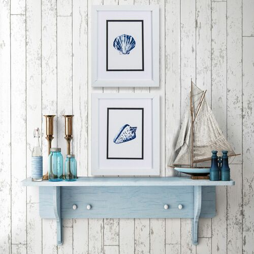Blue Ocean Shells- Set of Two lifestyle