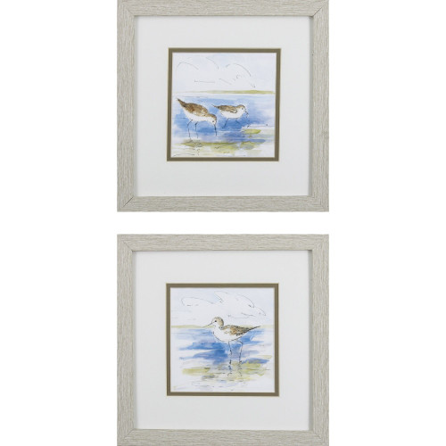 Ocean Shore Birds Watercolor Prints