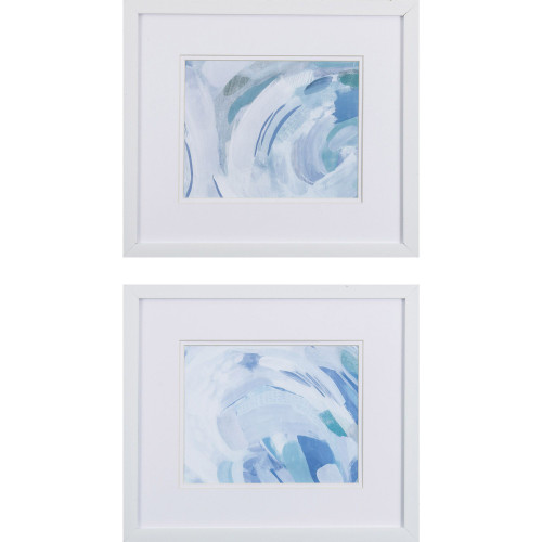 Ocean Waves Abstract Wall Art- Set of Two