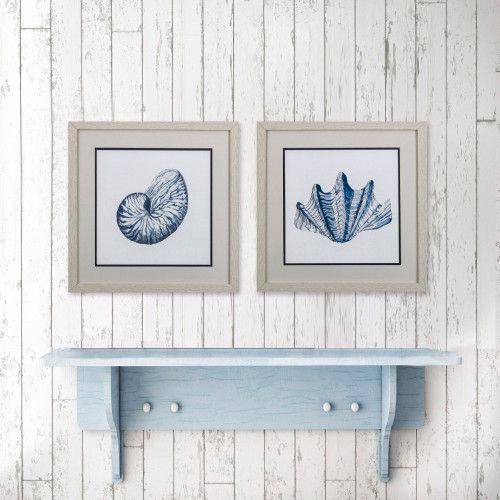 Nautical Shells Wall Art- Set of Two lifestyle