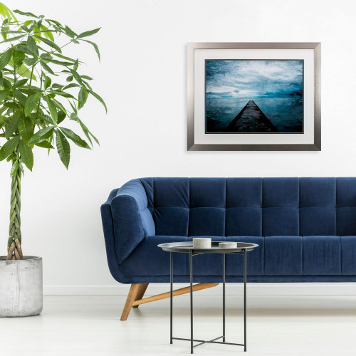 Pier in the Distance Wall Art room example
