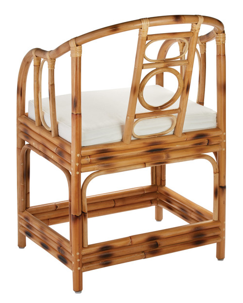 Malacca  Arm Chair in Burnt Tortoiseshell Rattan back