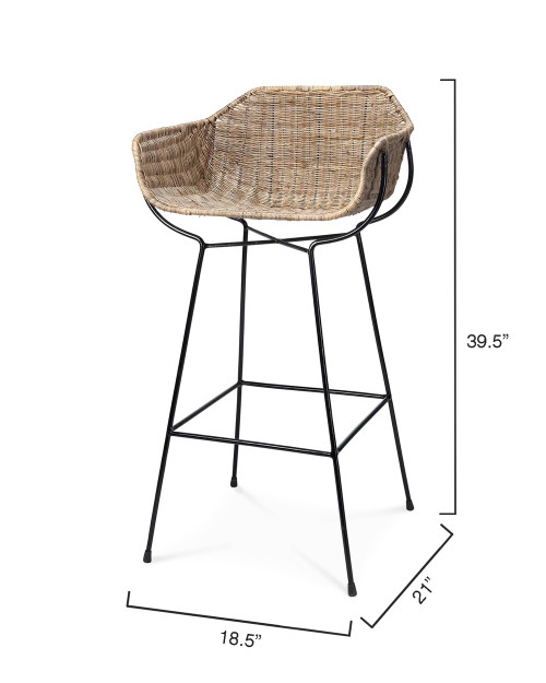 Nusa Counter Stool dimensions