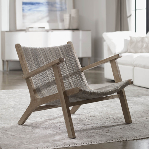 Aegea Rattan Accent Chair room example