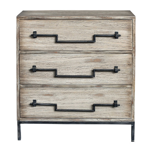 Sandy Shore Aged Ivory Accent Chest