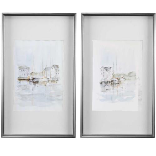 New England Port Framed Set of Two Prints