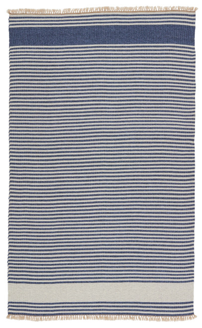 Morro Bay Navy Blue and Ivory Striped Rug