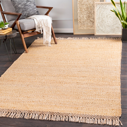 South Harbor Natural Jute Area Rug room view