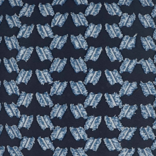 Chivari Tufted Deep Blue Pillow fabric