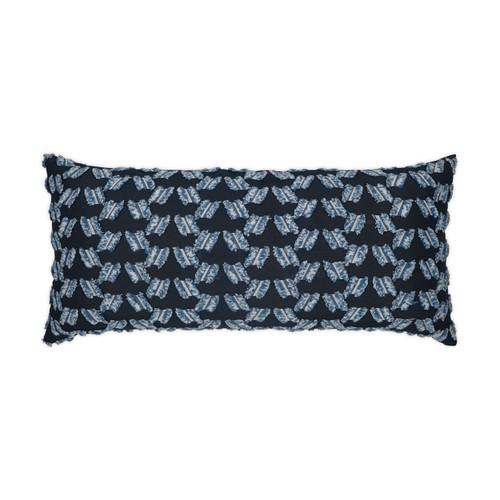 Chivari Tufted Deep Blue Lumbar Pillow