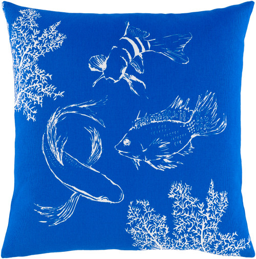 Royal Blue Under the Sea Pillow