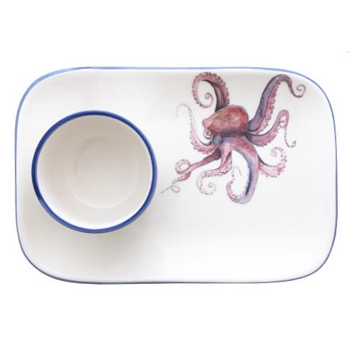 Octopus Platter and Dip Bowl Set