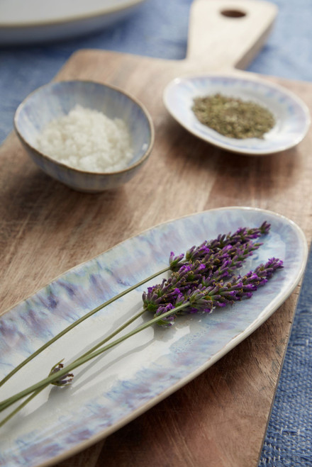 Brisa Ria Blue Oval Platters - Set of Two lifestyle