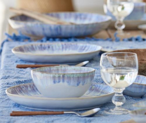 Brisa Ria Blue Cereal-Soup Bowl table image