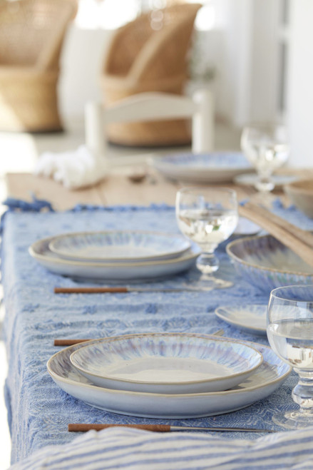 Brisa Ria Blue 11 Inch Dinner Plates table image
