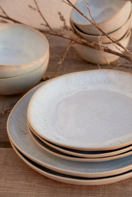 Eivissa Sand Beige Salad Plates with dinner plates