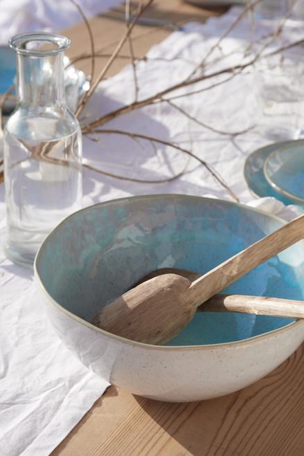Eivissa Sea Aqua Serving Bowl lifestyle image