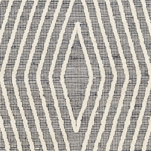 Norwood Charcoal Diamond Woven Wool and Jute Area Rug close up