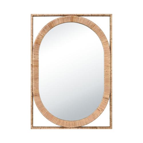 San Clemente Rattan Wrapped Mirror