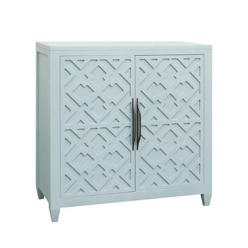 Topher 2-Door Cabinet in Aqua Marine
