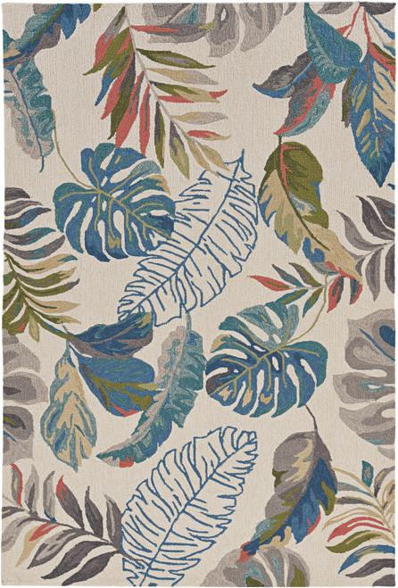 Teal Palms Tropical Indoor-Outdoor Rug