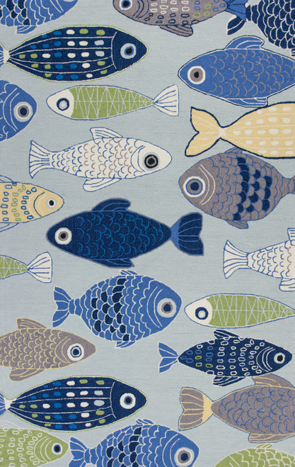Sea of Fish Hand-Hooked Area Rug