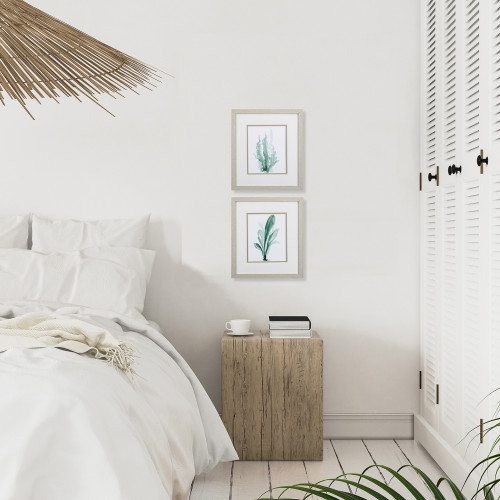 Teal Green Under the Sea Botanical Prints - Set of Two room example