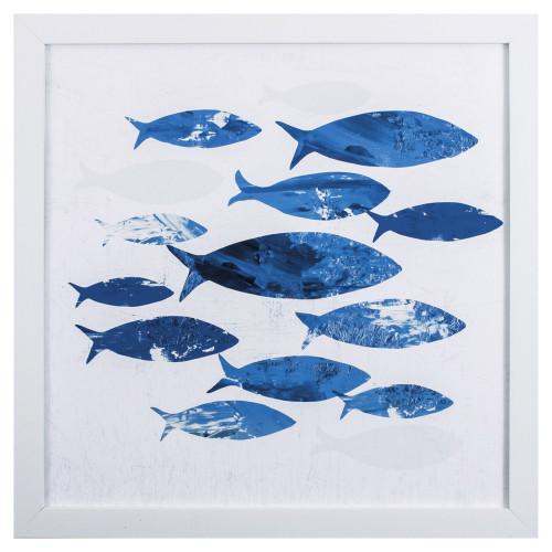 Tropical Blue School of Fish I