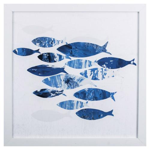 Tropical Blue School of Fish II