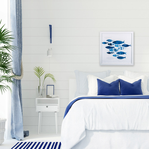 Tropical Blue School of Fish II lifestyle