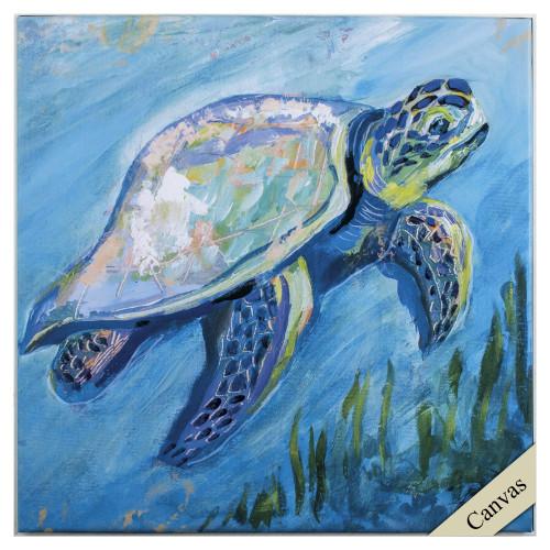 Tropical Sea Turtle Canvas