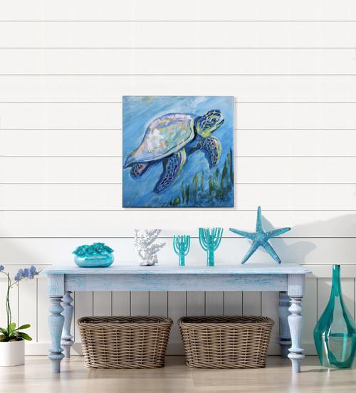 Tropical Sea Turtle Canvas lifestyle